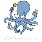 Octopus baby shower illo