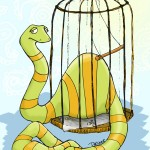 Illustration Friday – Paisley Meets Slither